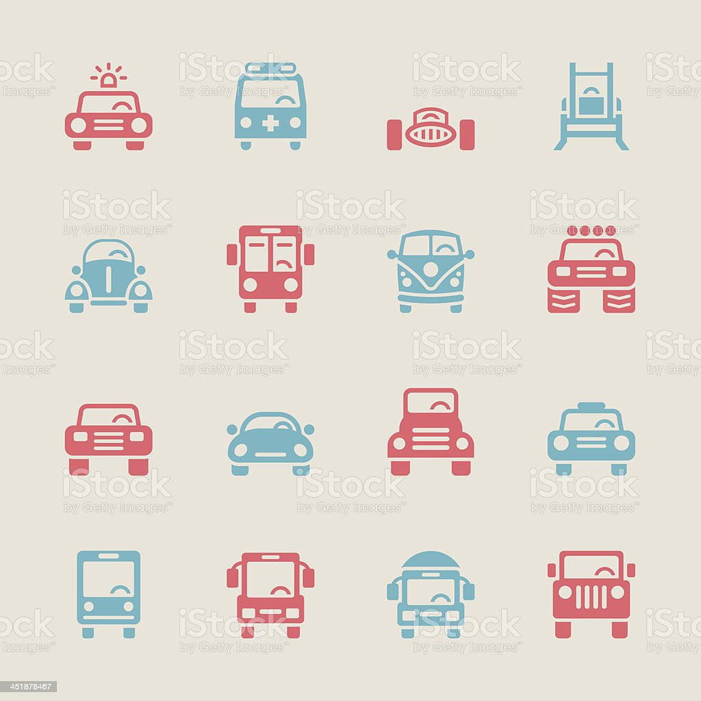 Car Collection Icons - Color Series | EPS10 vector art illustration