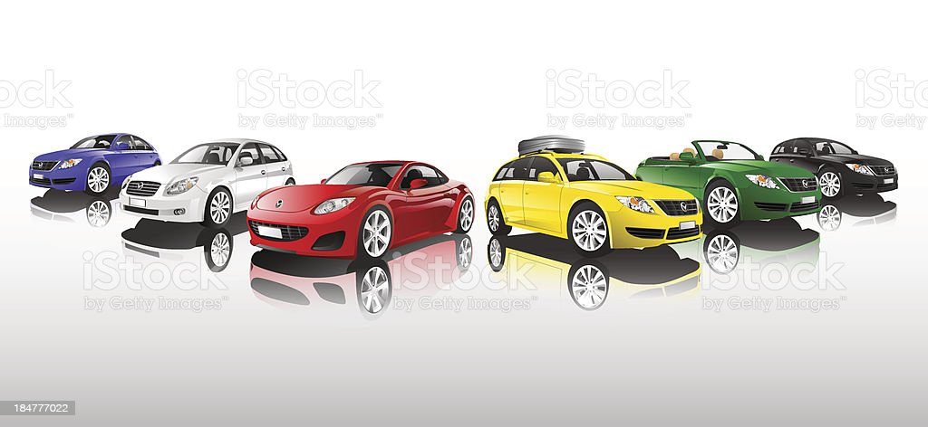 Car Collection royalty-free stock vector art