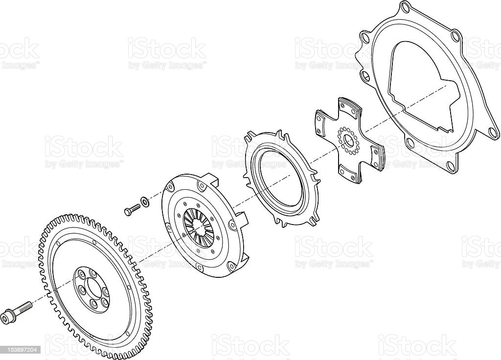 Car coupler vector art illustration