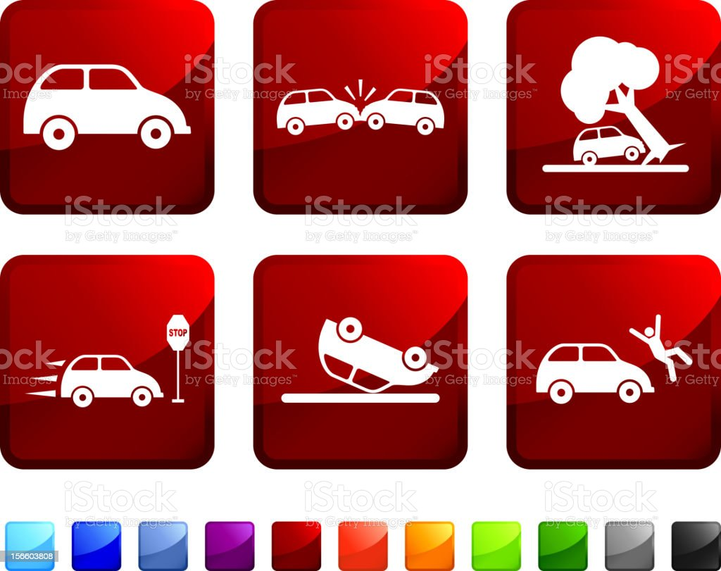 Car Crash royalty free vector icon set royalty-free stock vector art