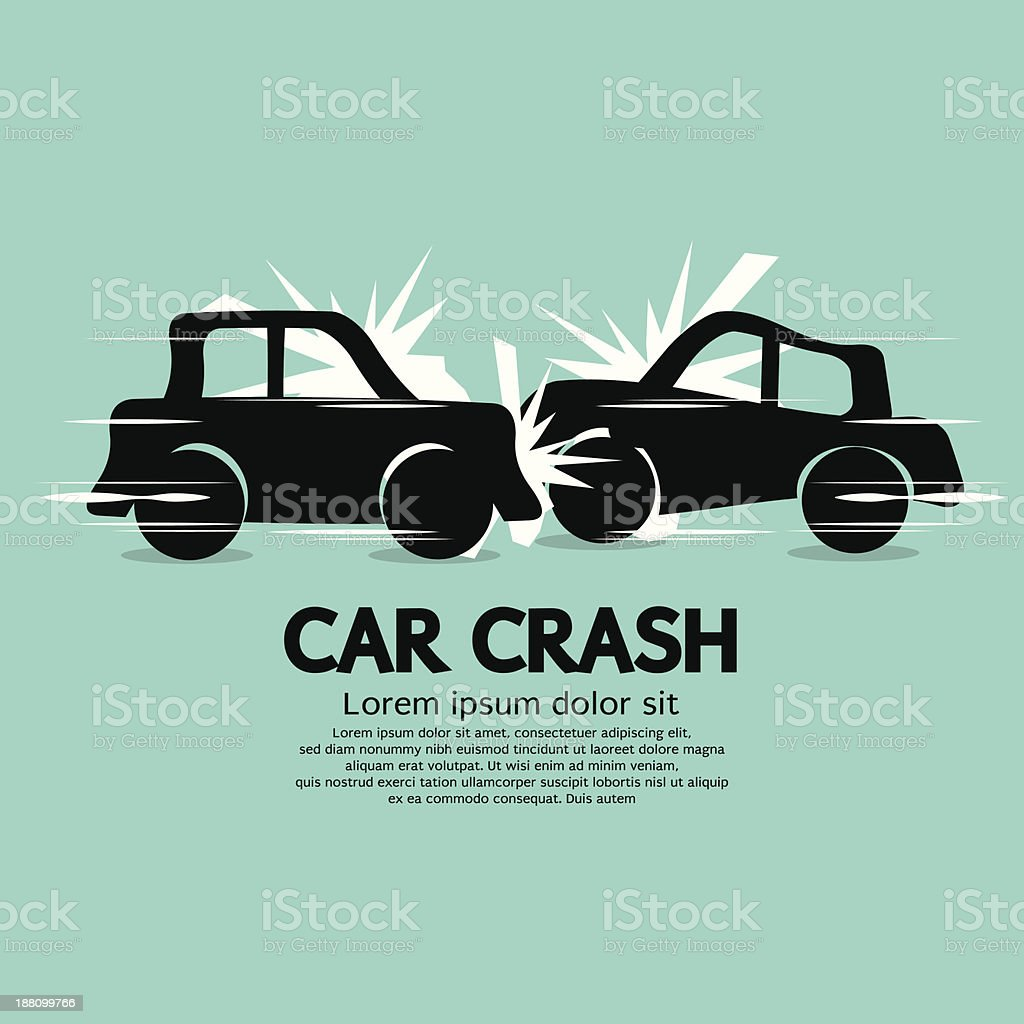 Car Crash. vector art illustration