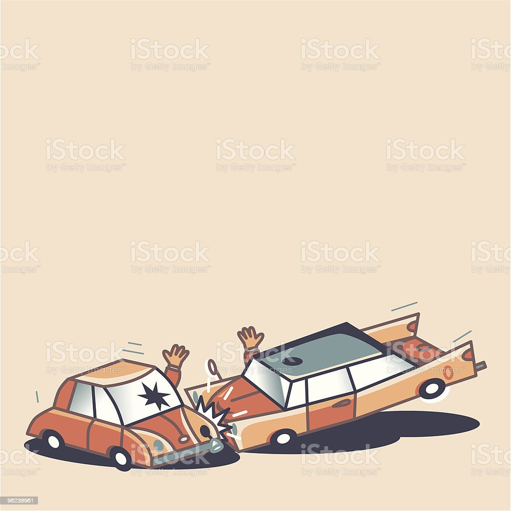 Car Crash royalty-free stock vector art