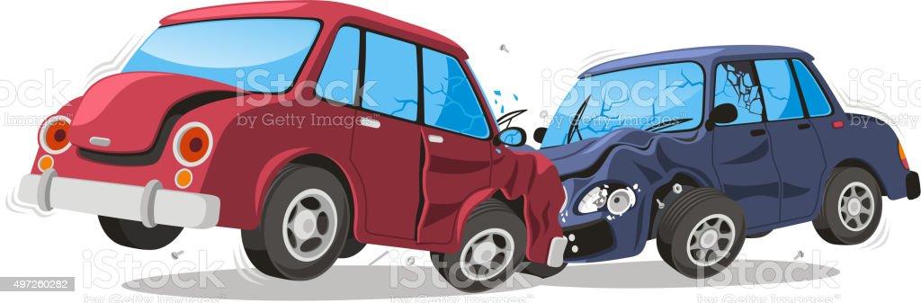 Car Crash Vehicle Collision vector art illustration