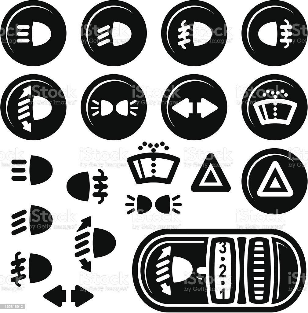 Auto Armaturenbrett Symbole Lichter Und Der ... | {Armaturenbrett symbole 93}