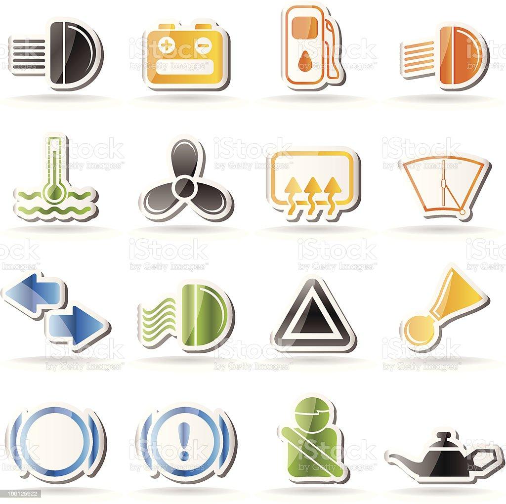 Car Dashboard icons royalty-free stock vector art