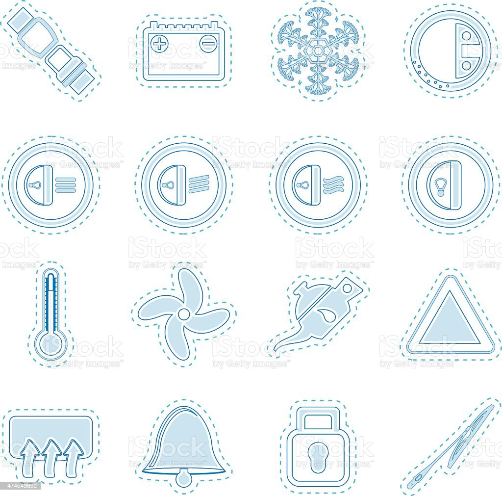 Armaturenbrett symbole  Auto Armaturenbrett Symbole Vektor Illustration 474549892 | iStock