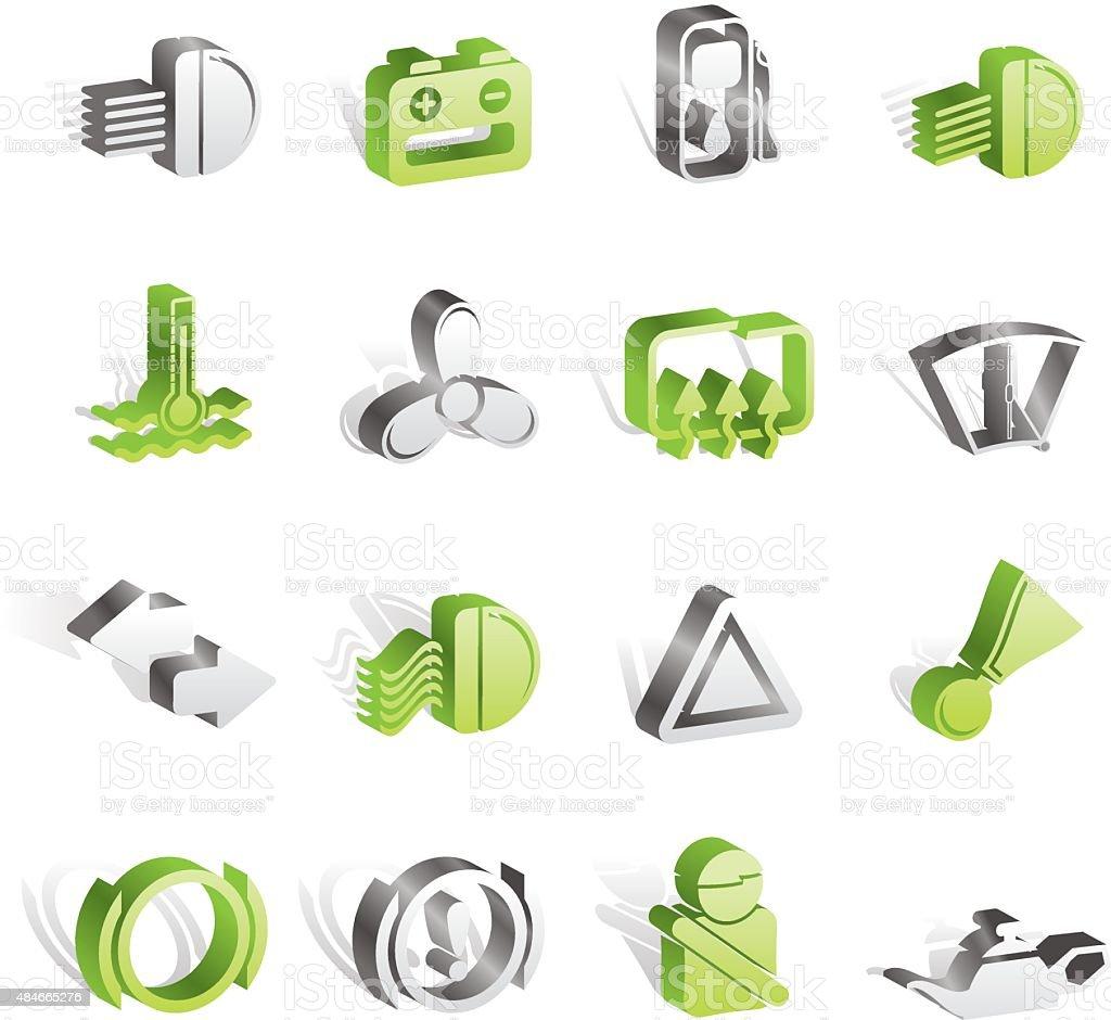 Armaturenbrett symbole  Auto Armaturenbrett Symbole Vektor Illustration 484665276 | iStock