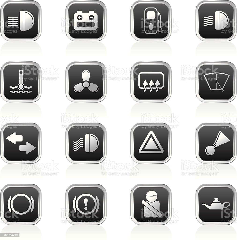 Car Dashboard royalty-free stock vector art