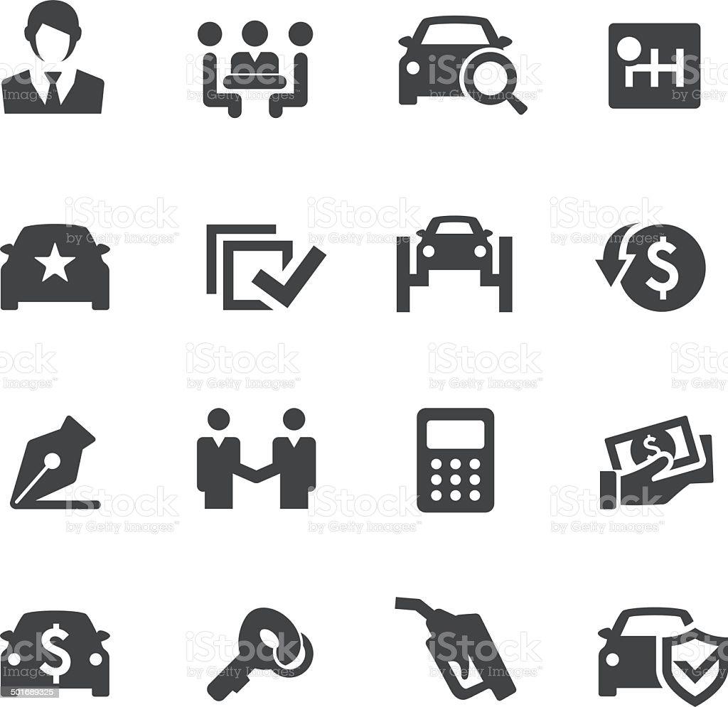 Car Dealership Icons - Acme Series vector art illustration