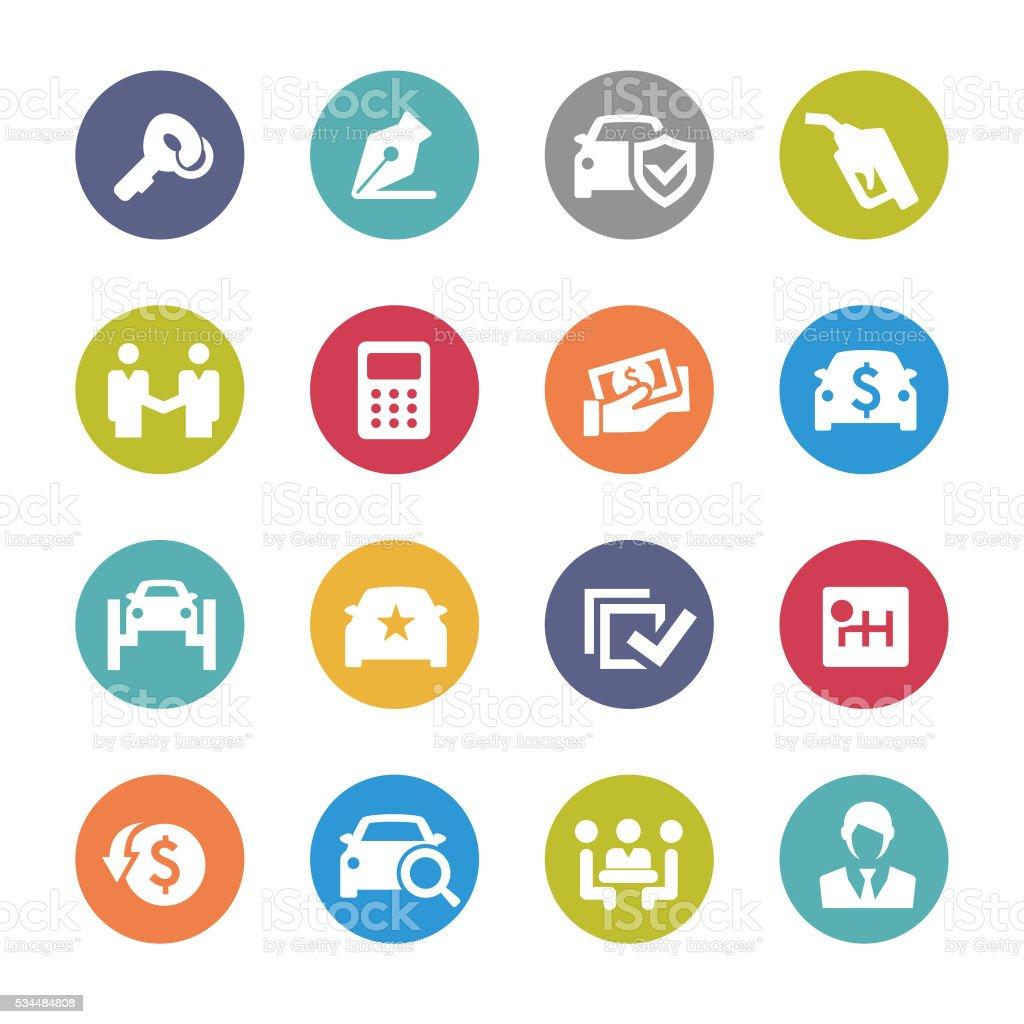 Car Dealership Icons - Circle Series vector art illustration