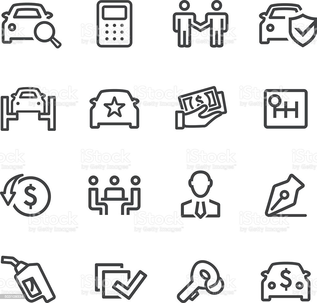 Car Dealership Icons - Line Series vector art illustration