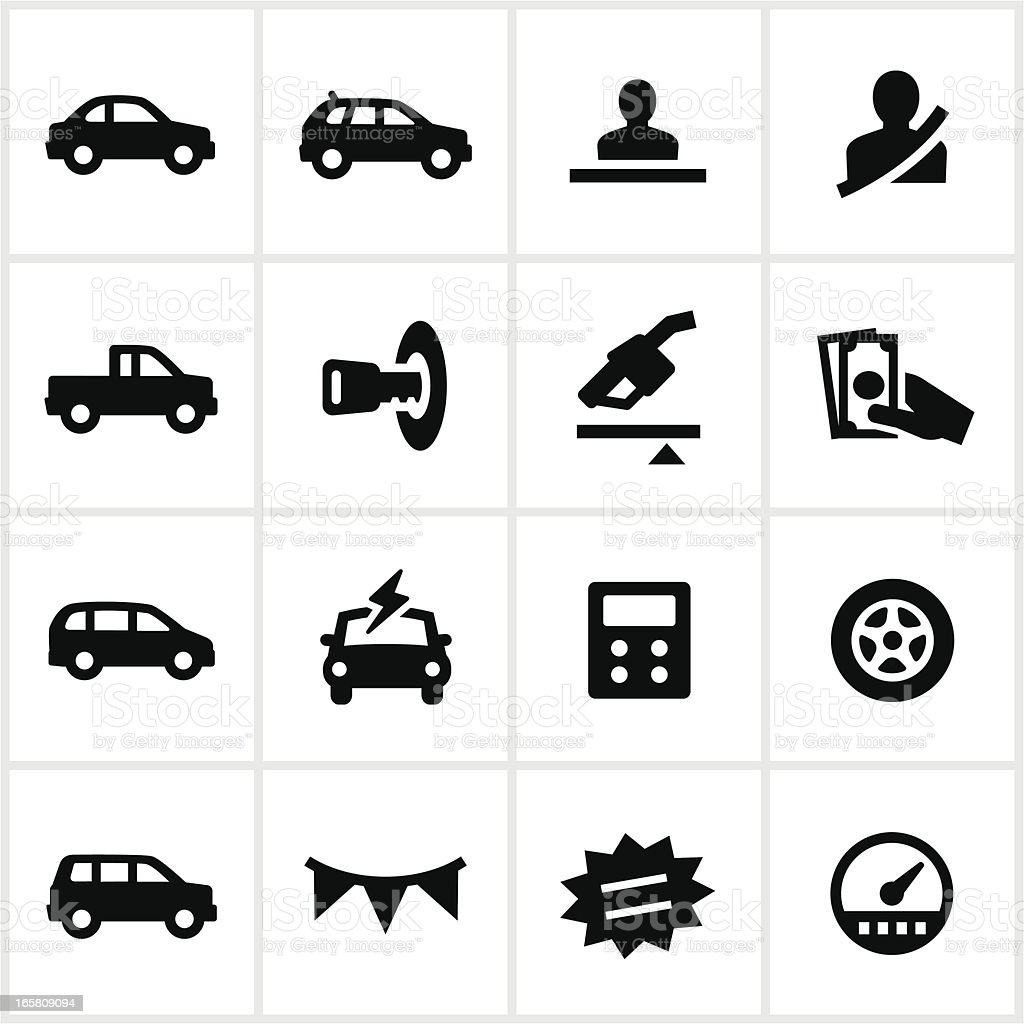 Car Dealership Icons royalty-free stock vector art
