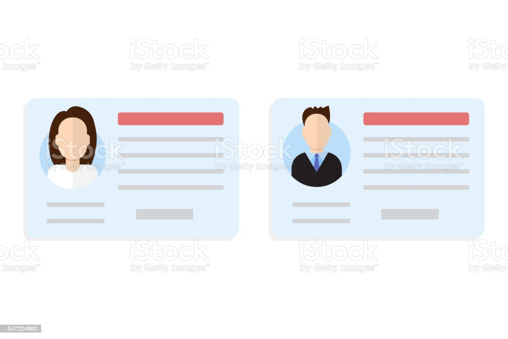 Car driver license set vector art illustration