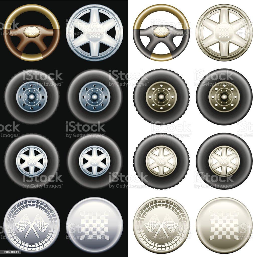 Car - elements royalty-free stock vector art