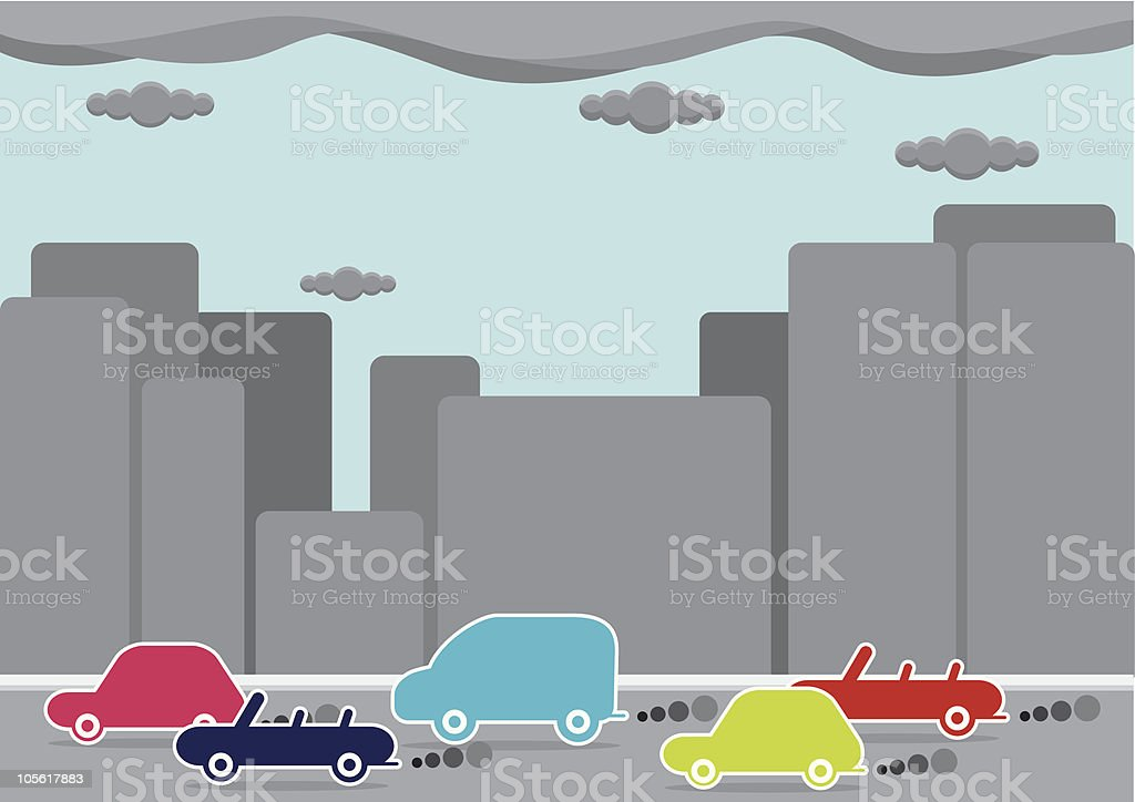 Car emmissions royalty-free stock vector art