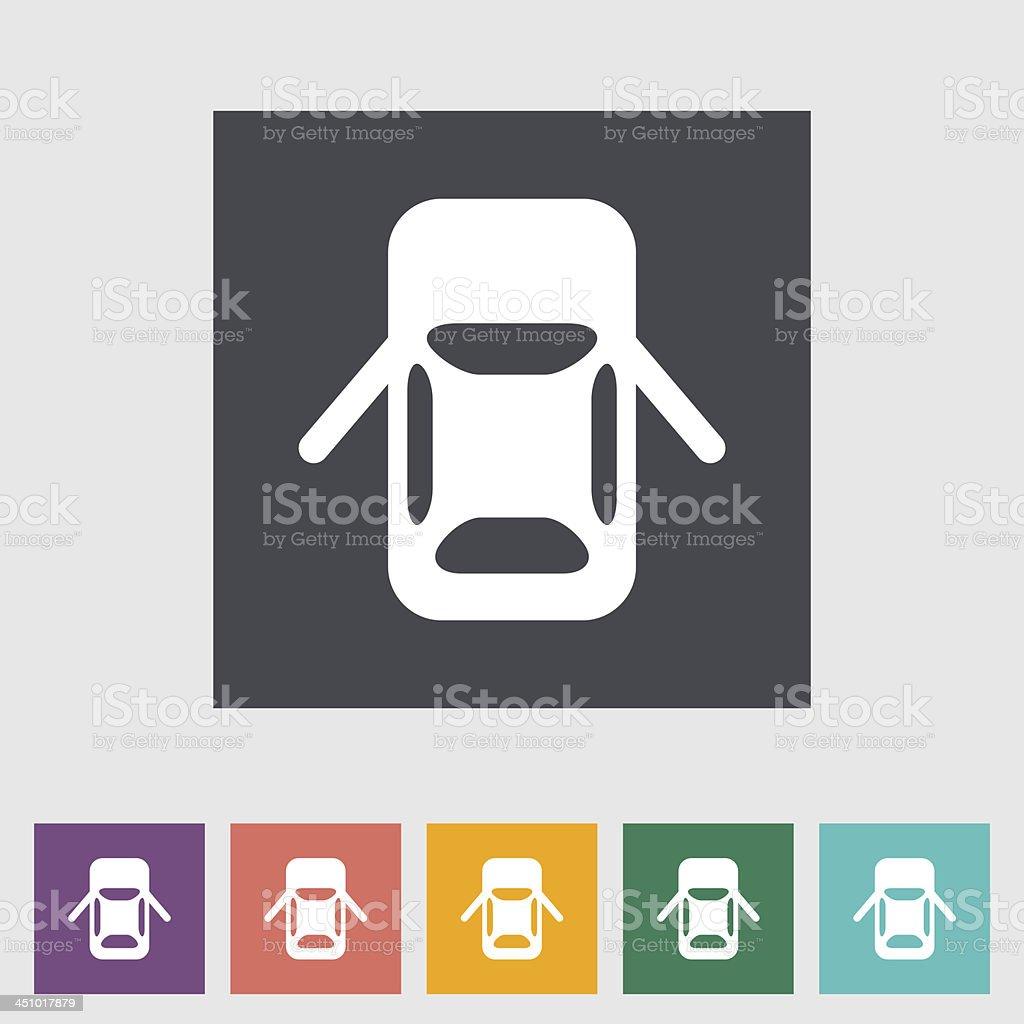 Car flat icon. royalty-free stock vector art
