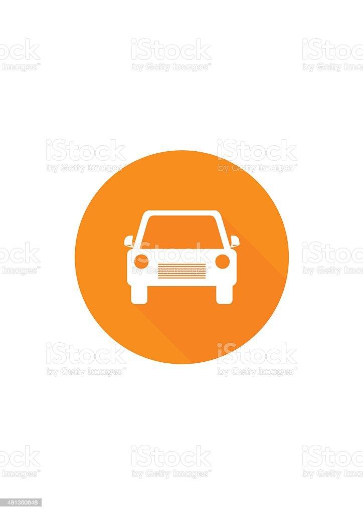 Car flat icon. Vector Illustration. vector art illustration