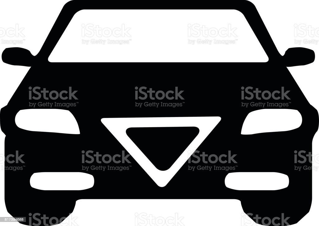 Car Front Single Vector Illustration vector art illustration