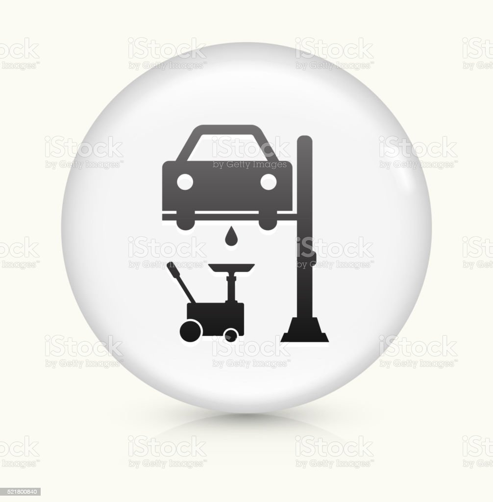 Car Generator icon on white round vector button vector art illustration