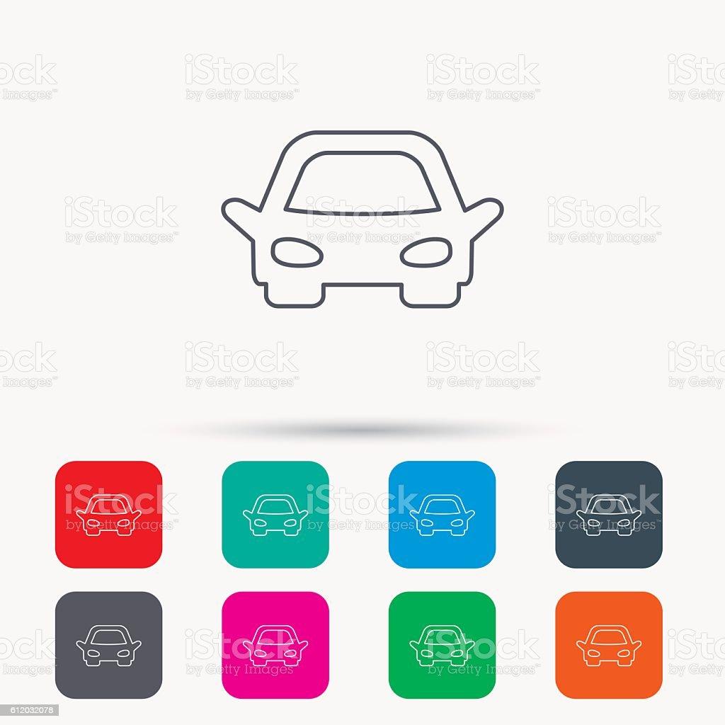 Car icon. Auto transport sign. vector art illustration