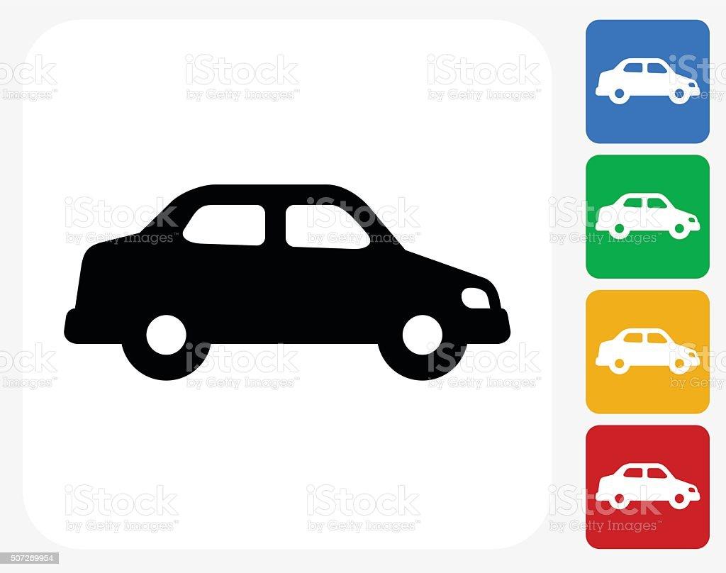 Car Icon Flat Graphic Design vector art illustration