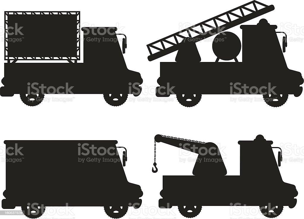 car icon set black silhouette vector illustration royalty-free stock vector art