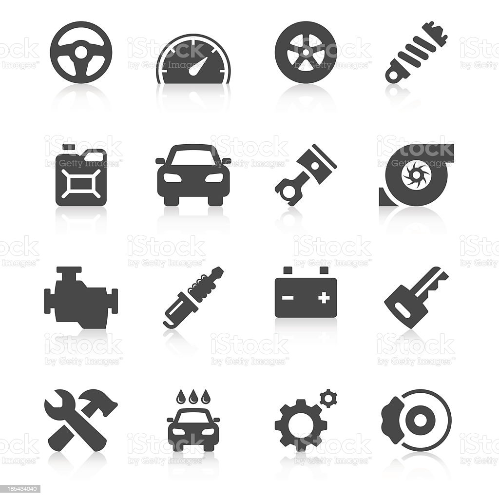 Car Icon Set | Unique Series vector art illustration