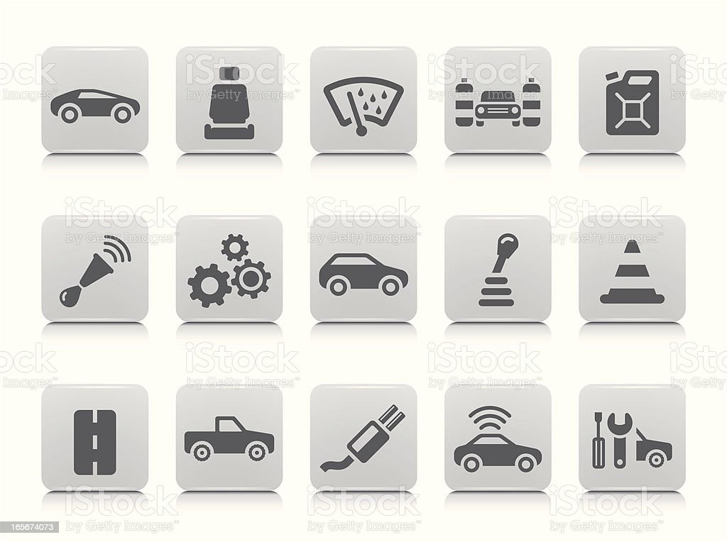 Car Icon Set royalty-free stock vector art