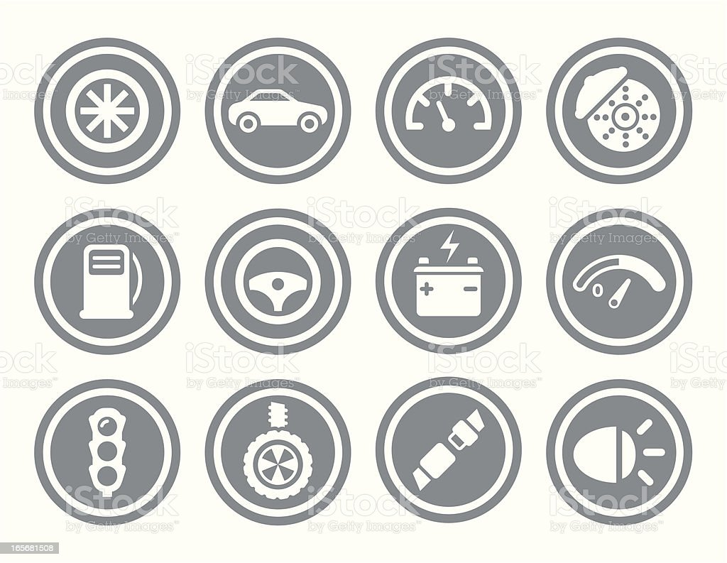Car Icon Set royalty-free stock vector art