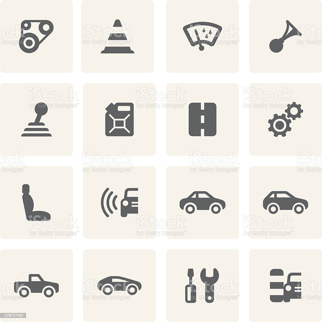 Car Icon Set (Saro Series) vector art illustration