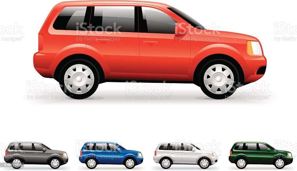 SUV car icon vector art illustration