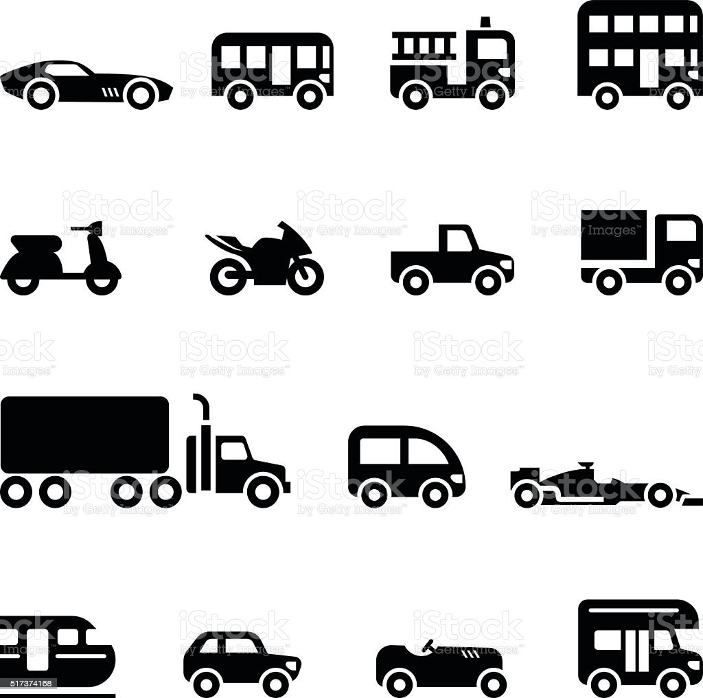 Car icon vector art illustration
