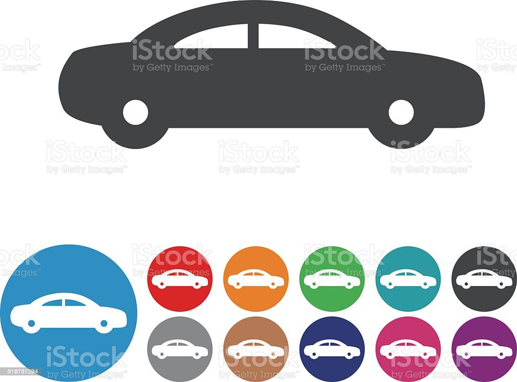Car Icons - Graphic Icon Series vector art illustration