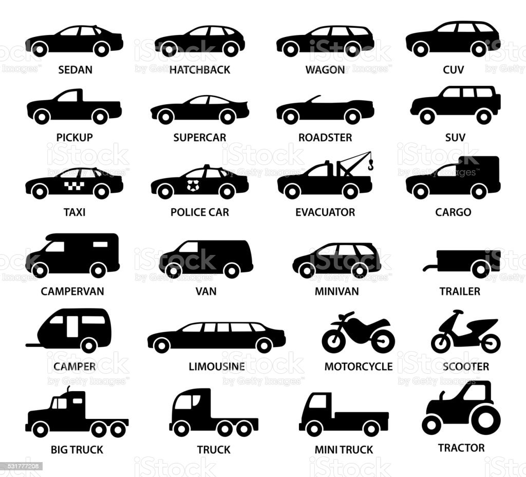 Car icons - illustration vector art illustration