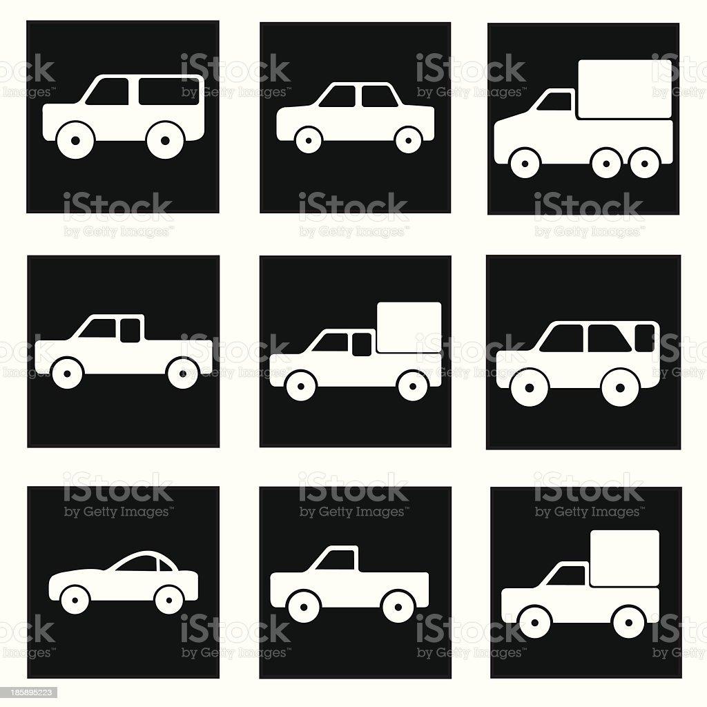 car icons vector art illustration