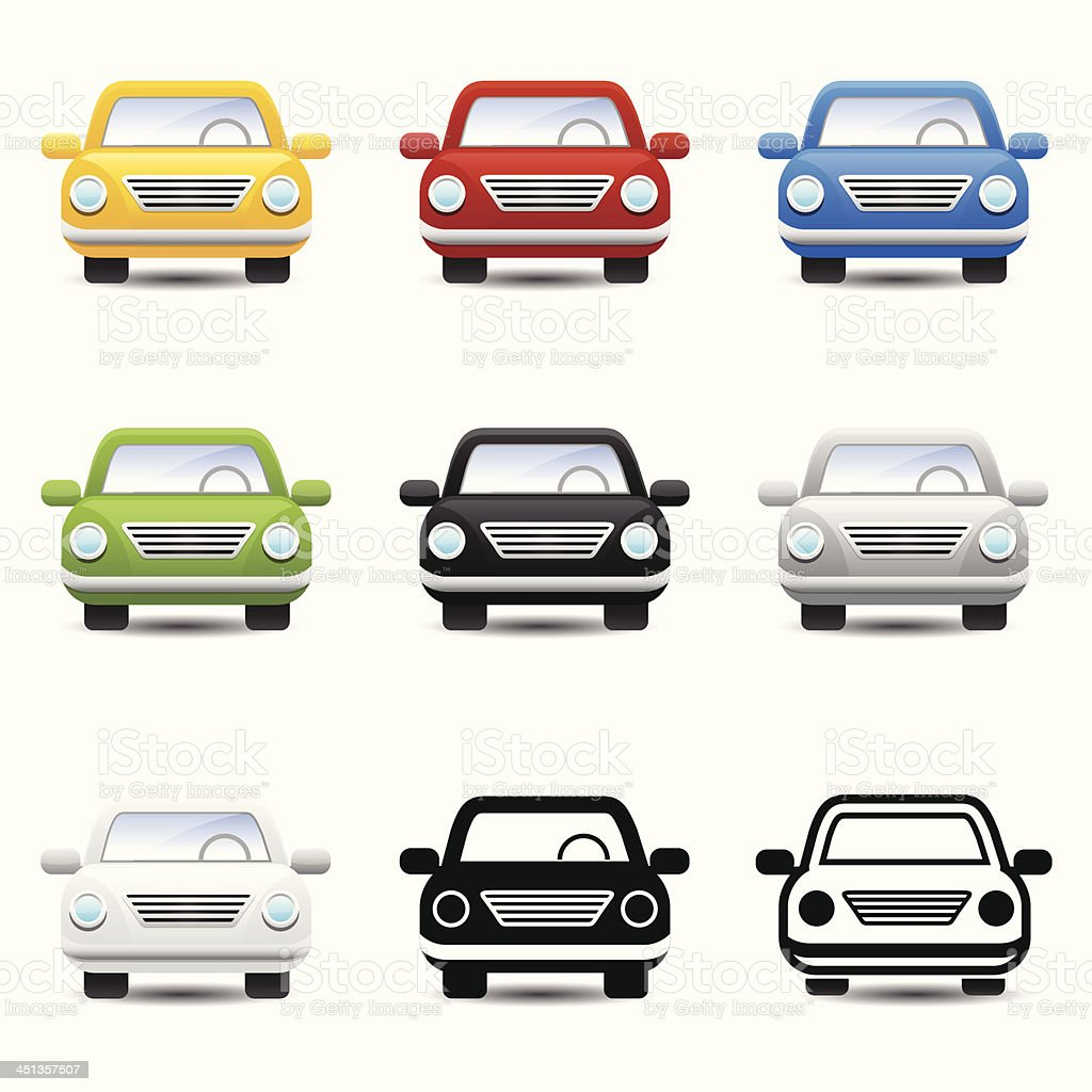 Car icons vector royalty-free stock vector art