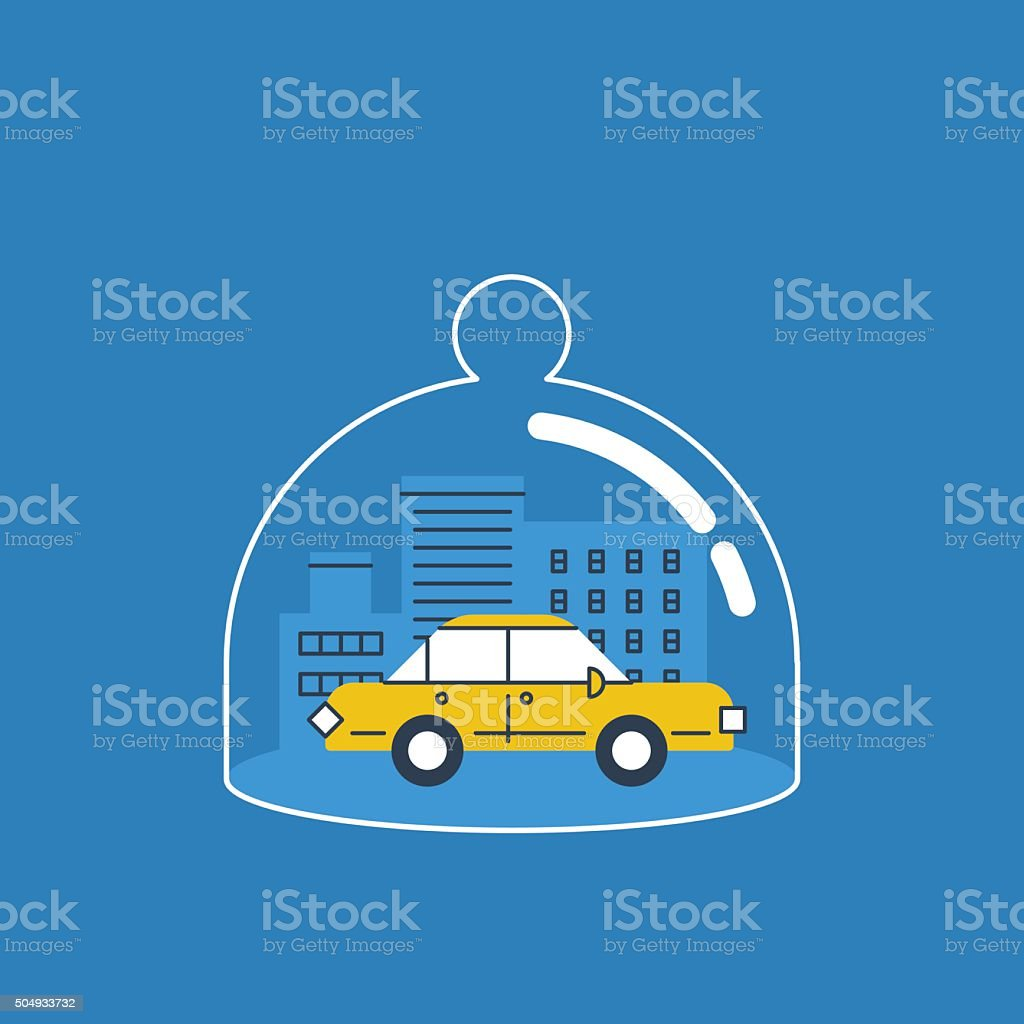 Car insurance concept vector art illustration