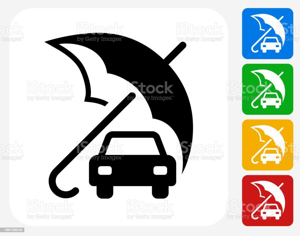 Car Insurance Icon Flat Graphic Design vector art illustration
