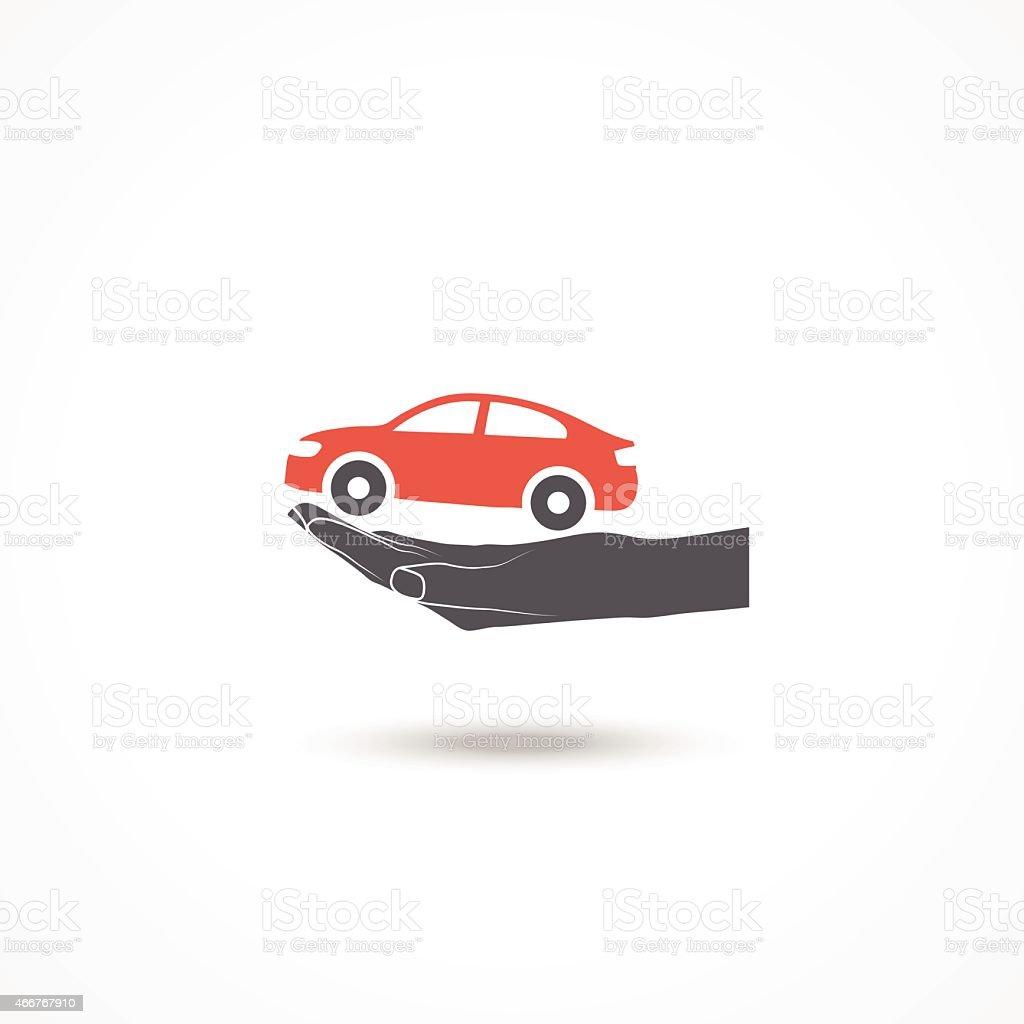 Car insurance icon vector art illustration