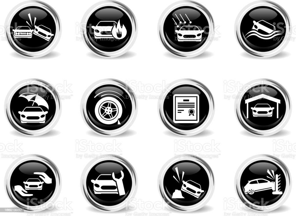 Car Insurance Icons royalty-free stock vector art
