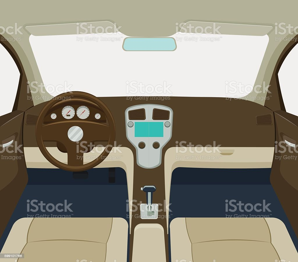 car interior vector illustration vector art illustration