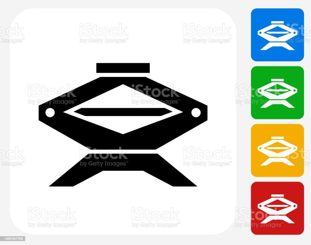 Design of car jack - Car Jack Icon Flat Graphic Design Royalty Free Stock Vector Art