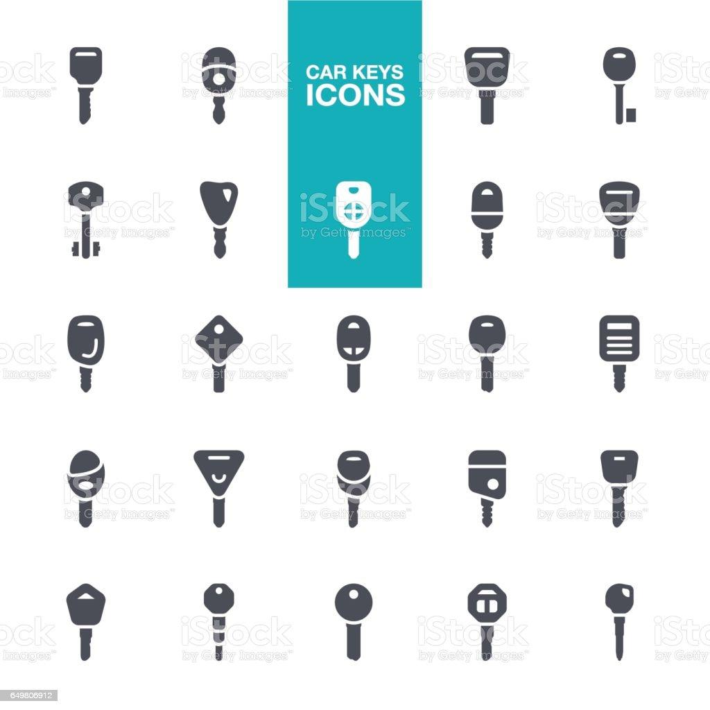 Car keys icons vector art illustration
