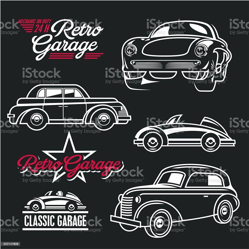 Car Line Art Classic Cars Stock Vector Art Istock