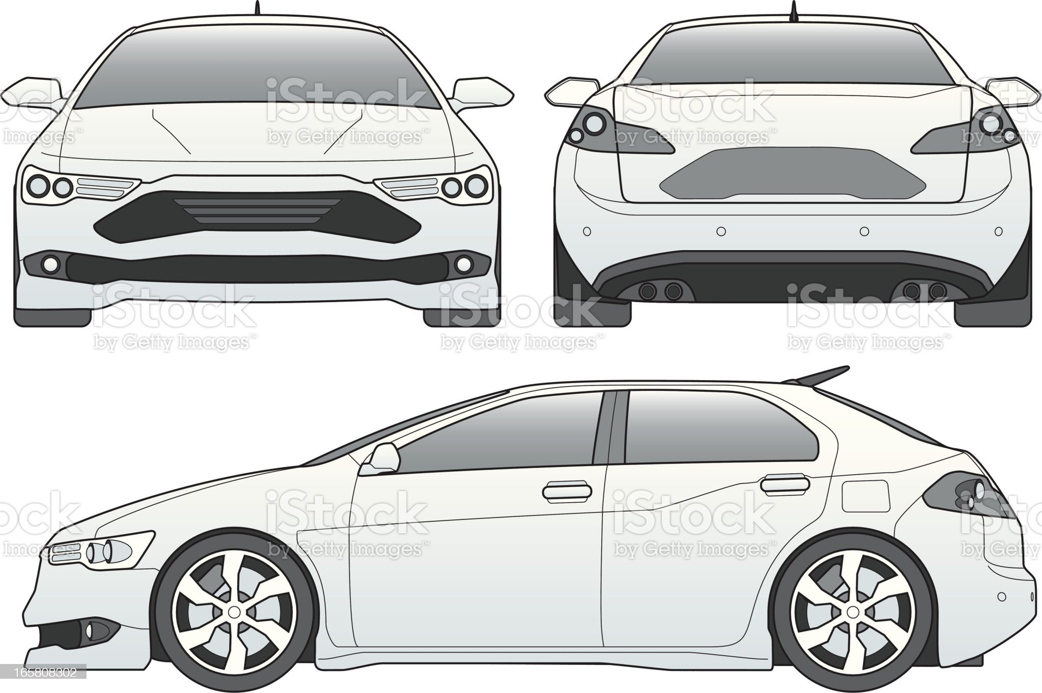 car line art royalty-free stock vector art