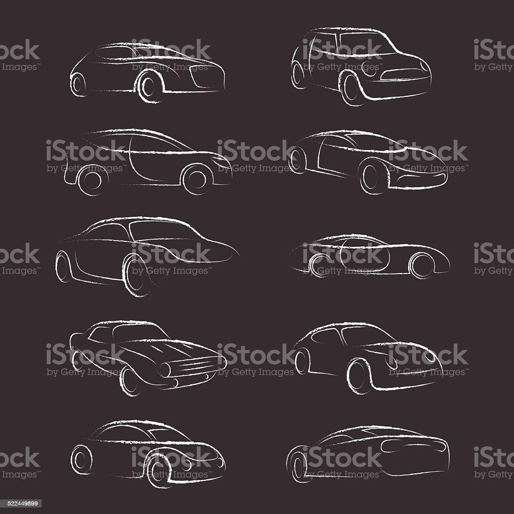 Car Line Brush Dirty vector art illustration