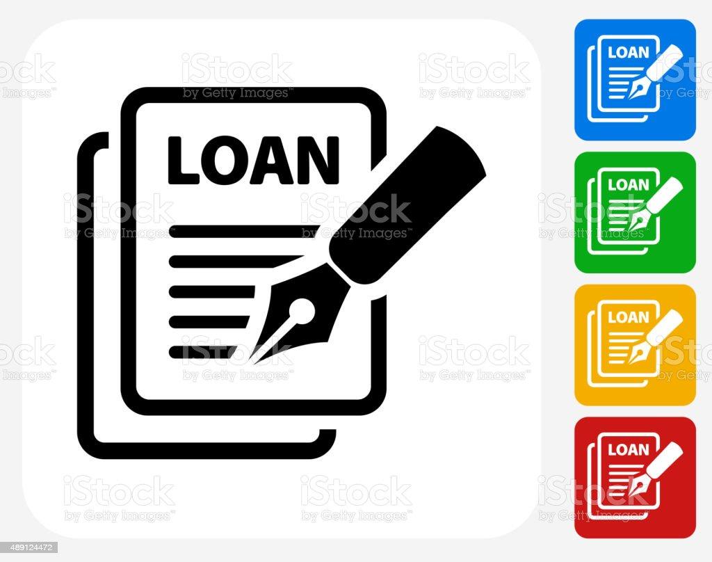 Car Loan Icon Flat Graphic Design vector art illustration