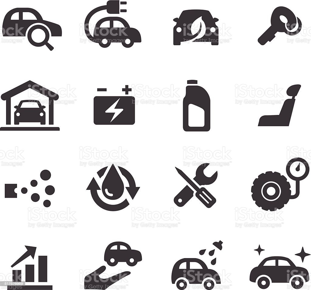 Car Maintenance Icons - Acme Series vector art illustration