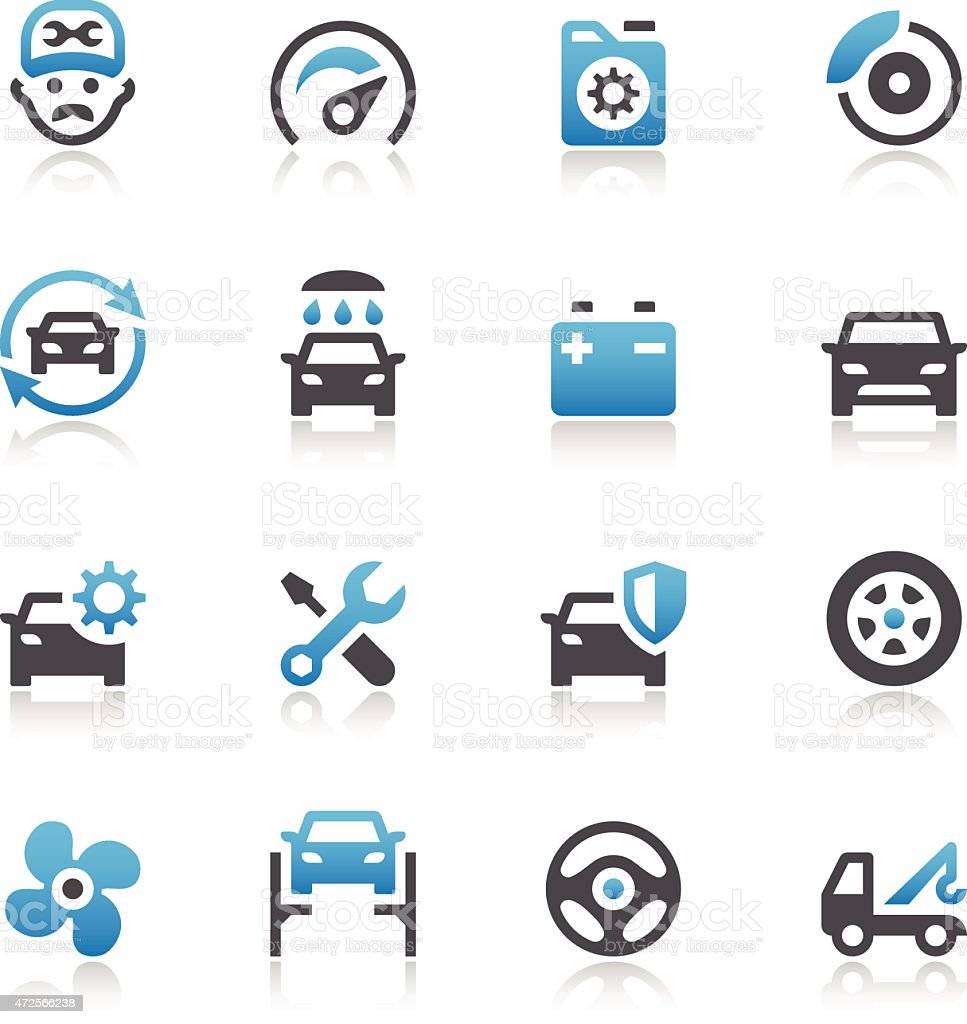 Car Maintenance Service Icons vector art illustration