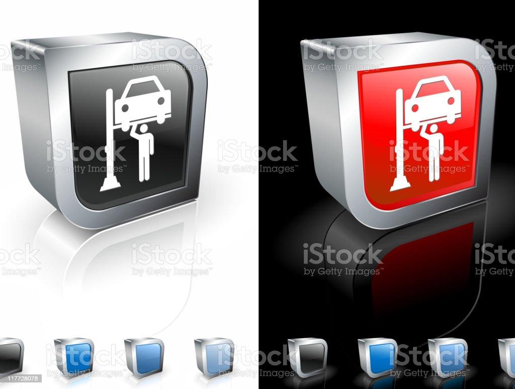car mechanic 3D icon royalty-free stock vector art